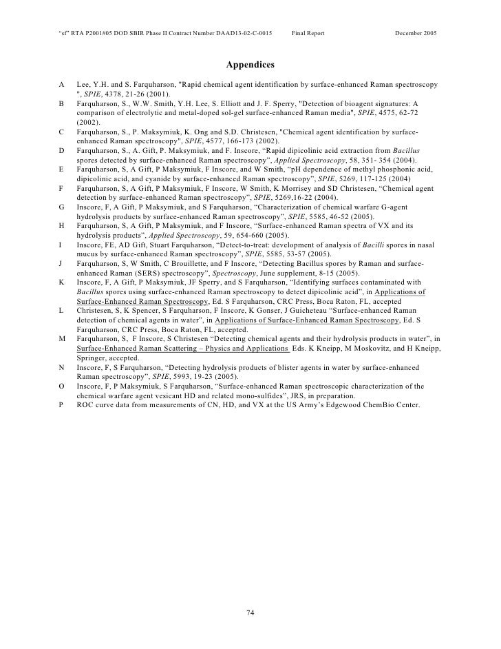 """sf"" RTA P2001#05 DOD SBIR Phase II Contract Number DAAD13-02-C-0015   Final Report                  December 2005        ..."
