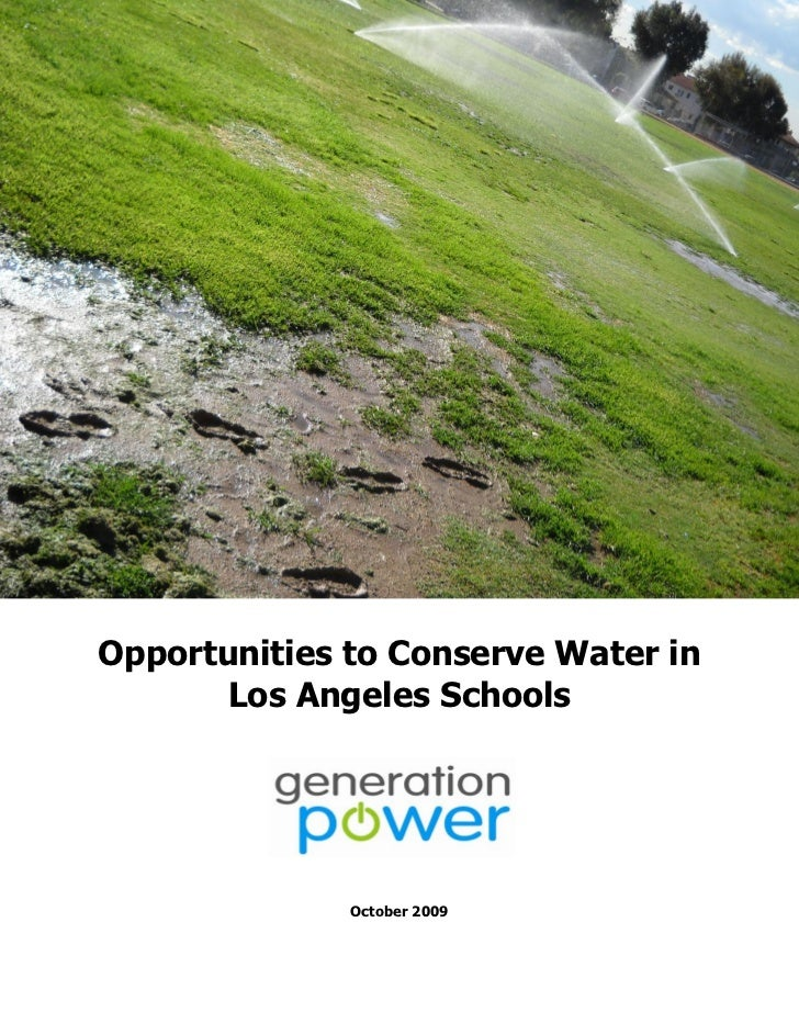 Final Report On Lausd Water Usage 10 22 09