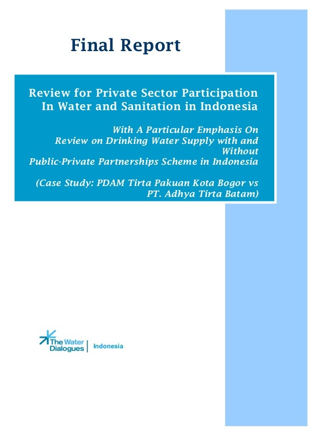 IndonesiaFinal ReportReview for Private Sector ParticipationIn Water and Sanitation in IndonesiaWith A Particular Emphasis...