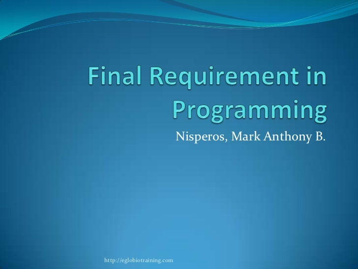 Final requirement in programming   niperos
