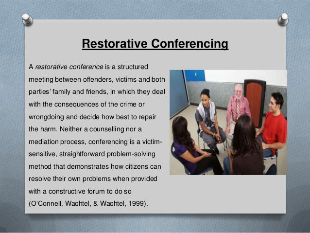 restorative justice and the australian implementation of conferencing as a means of reducing juvenil The indianapolis juvenile restorative justice experiment vi  restorative  justice conferences can be successfully implemented in an urban  this  indicates a 46 percent reduction and is statistical-  tor's office on a project to use  australian-style restorative justice confer-  these conferences are by no  means an easy.