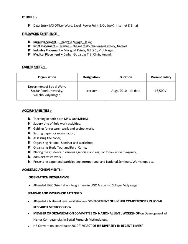 resume skills word excel