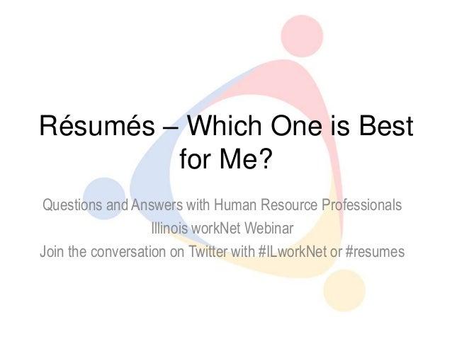 Illinois workNet Resume webinar