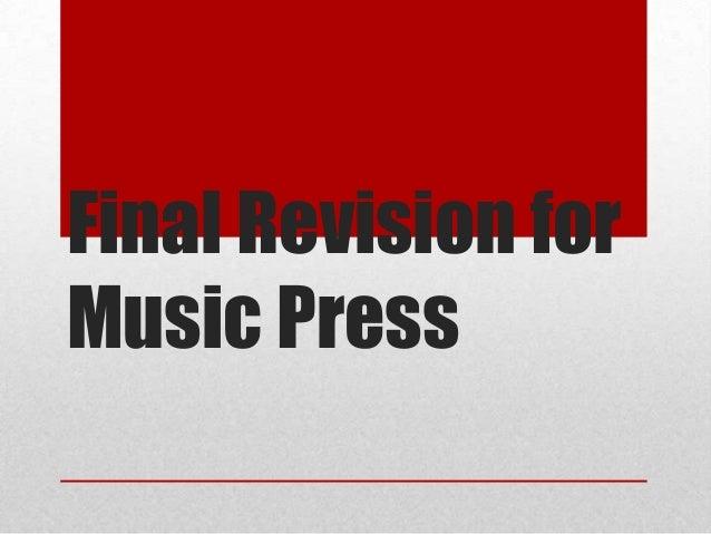 Final Revision forMusic Press