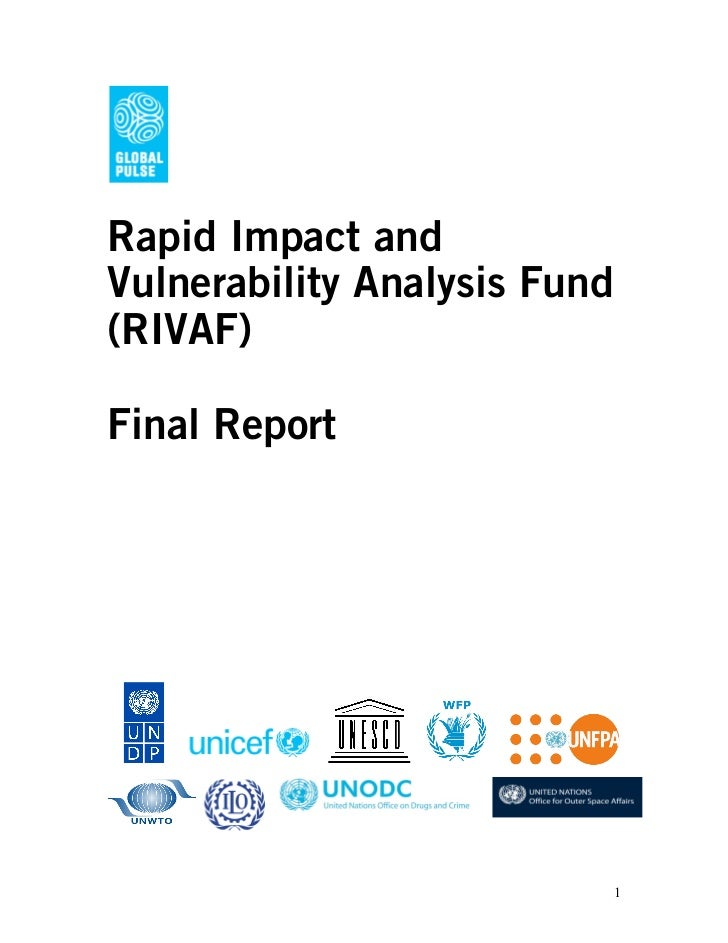 Rapid Impact andVulnerability Analysis Fund(RIVAF)Final Report                          1