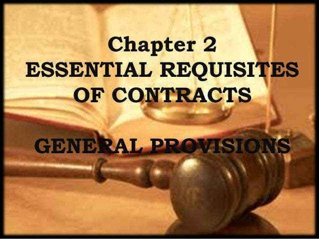 Essential Requisites of Contracts