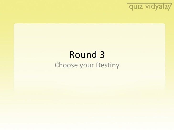Quiz Vidyalay Quiz 2-Finals Round 3
