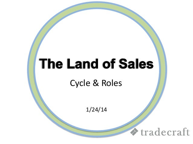 Sales Cycle and Sales Roles - Tradecraft