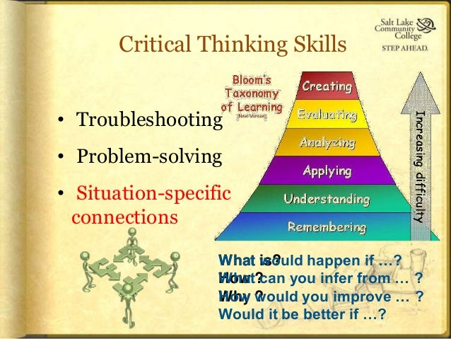 enhancing critical thinking skills Enhancing critical thinking for all students business leaders and other members of the community the central importance of critical thinking skills.
