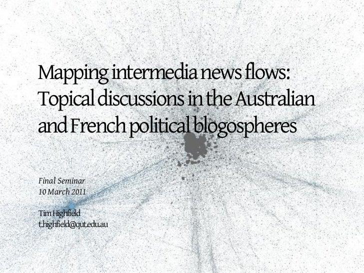 Final seminar, 10 March 2011