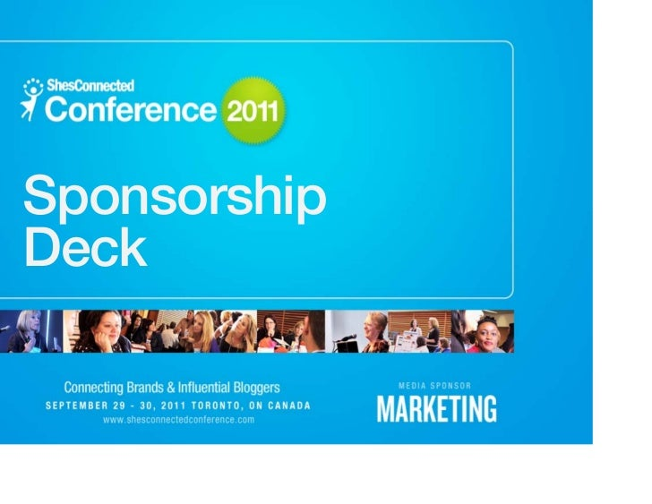 ShesConnected Conference 2011 Sponsorship Package
