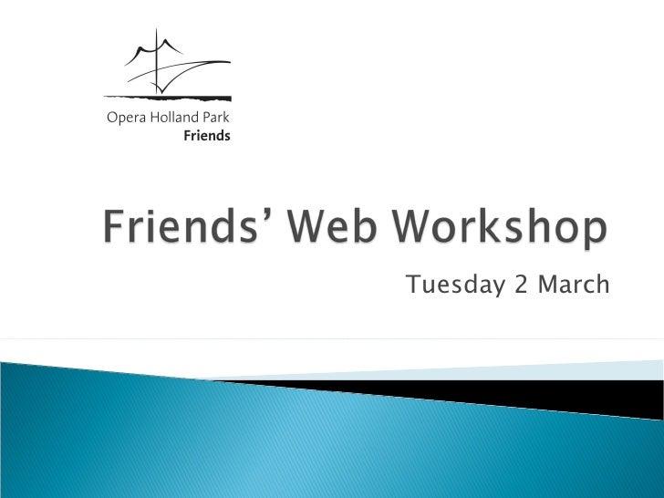 Friends' web workshop