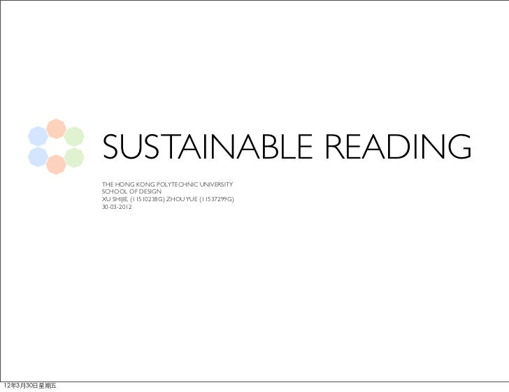 Sustainable Reading - Concept Workshop