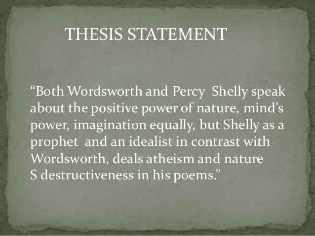 thesis statement for english literature