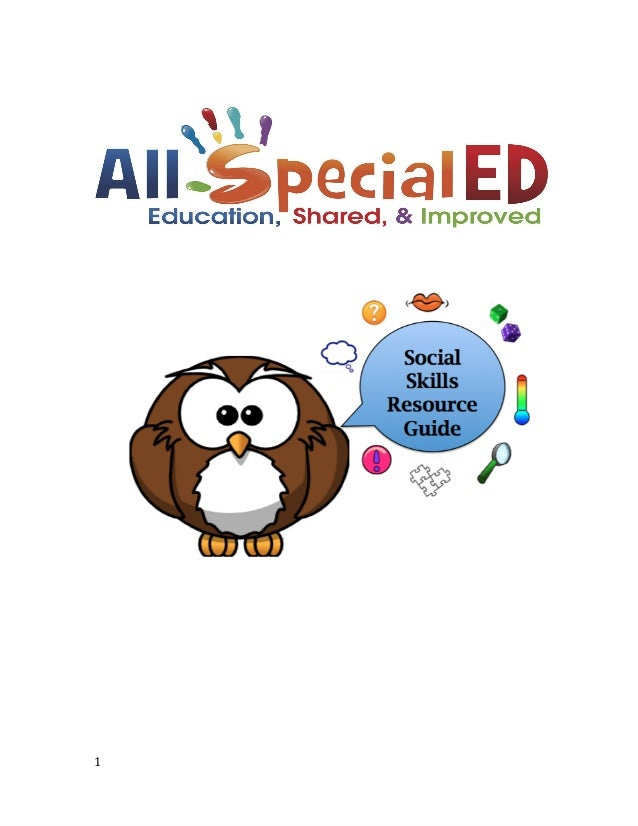 AllSpecialED Social Skills Field Guide