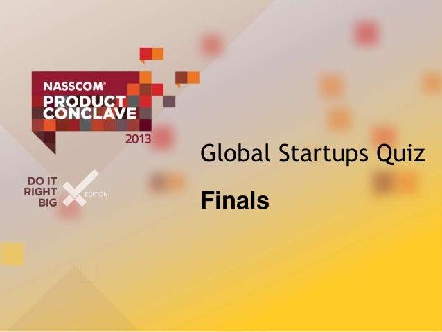 Finals startups quiz npc2013