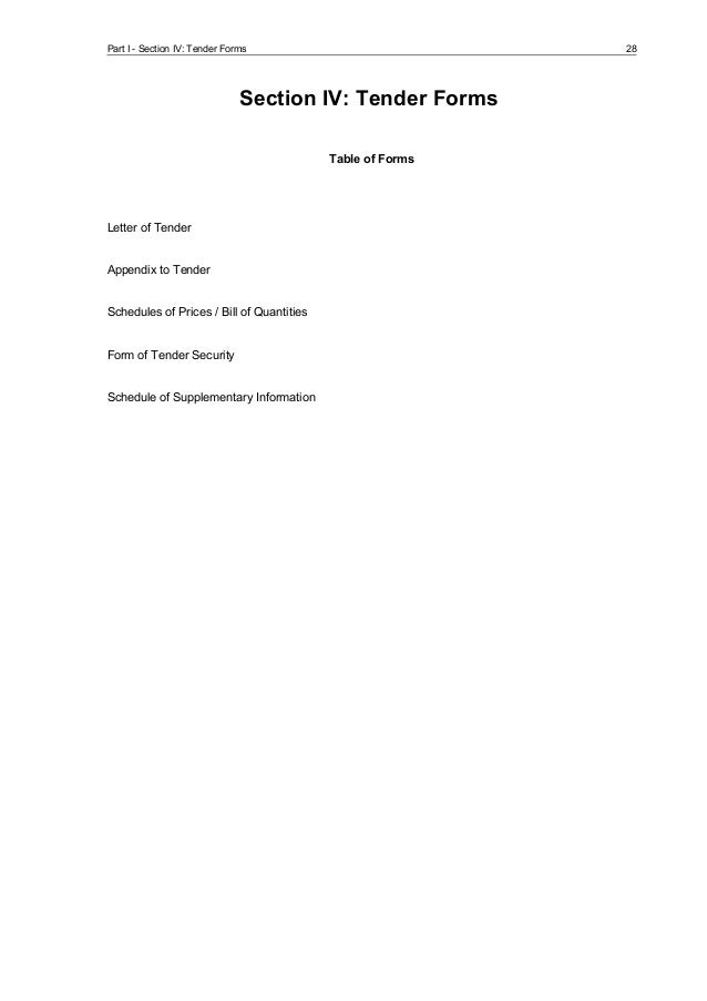 cover letter tender submission examples