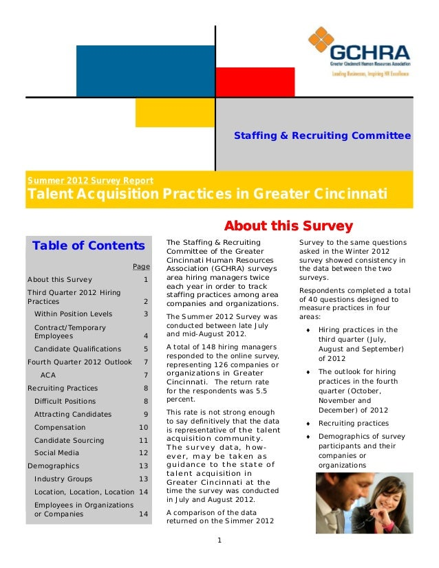 Final Summer 2012 Survey Report