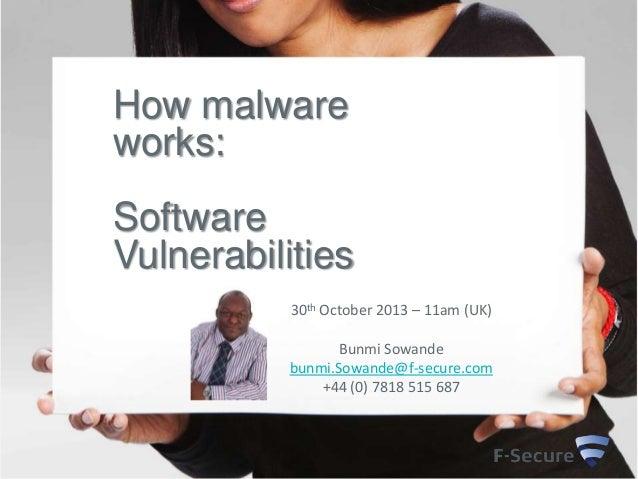 How Malware Works - Understanding Software Vulnerabilities