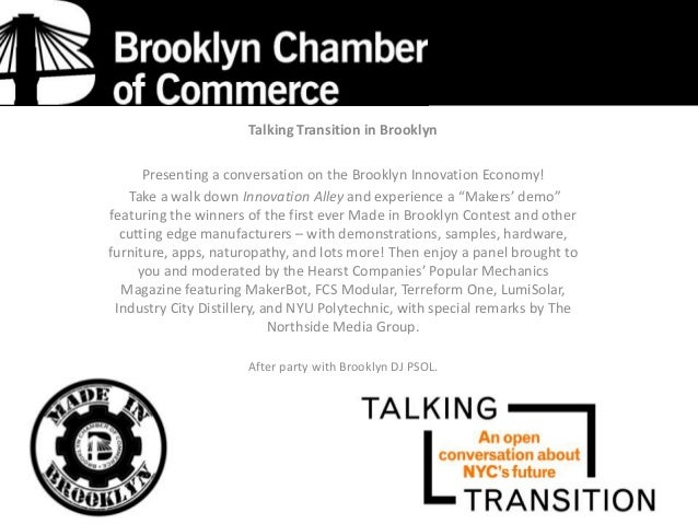 Talking Transition in Brooklyn