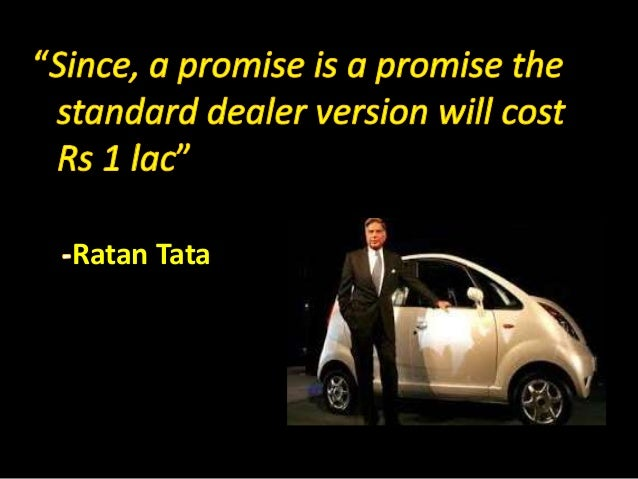 tata nano case The case explores how tata motors, india's largest automobile company, developed the nano, the world's cheapest car the case focuses on the translation of rata.
