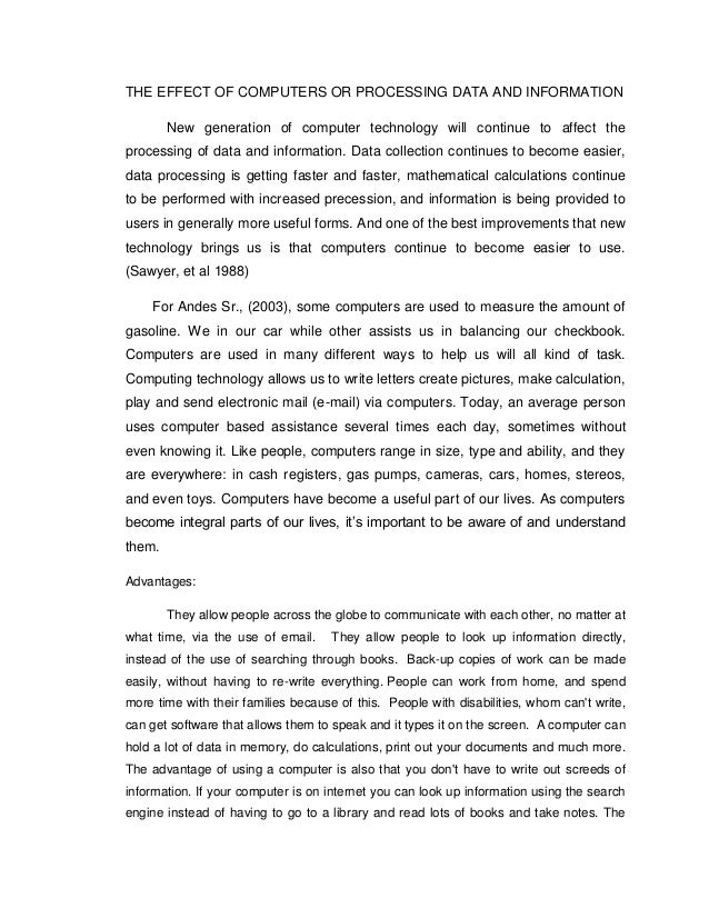computers and artificial intelligence essay Ligence without the assistance of computers 1 introduction  artificial intelligence and human thinking robert kowalski imperial college london united kingdom.