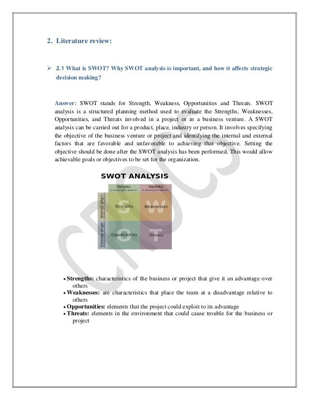 strategic management analysis tools literature review A guide to case analysis  providing an opportunity for learning by applying the tools and techniques of strategic management 4  (do not review the analysis.
