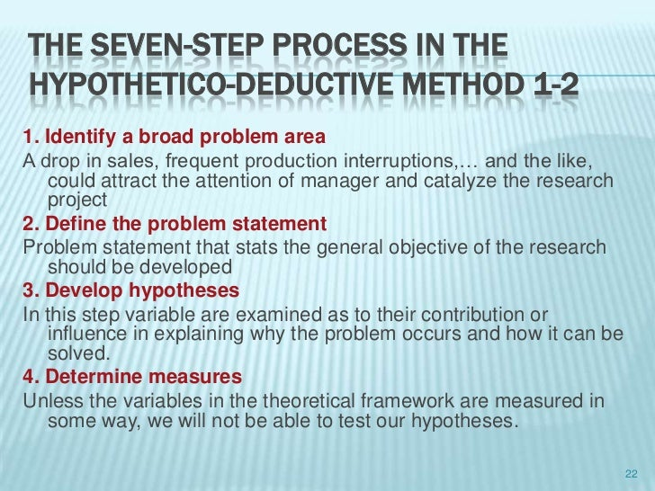 Steps of research methodology