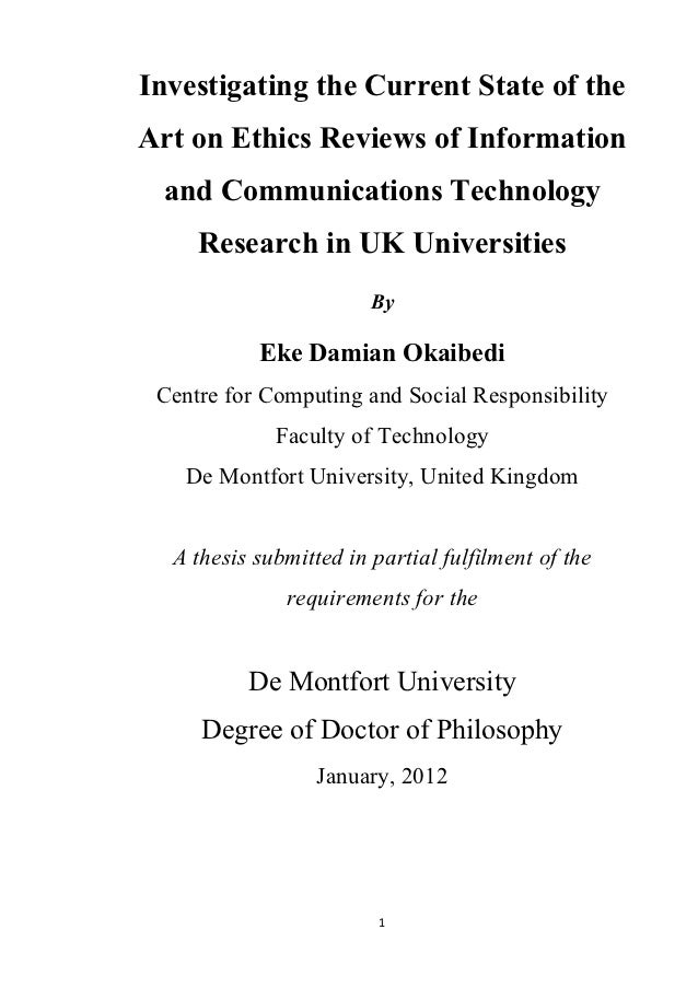 Final thesis ict