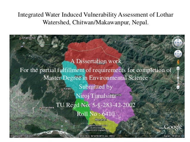Integrated Water Induced Vulnerability Assessment of Lothar          Watershed, Chitwan/Makawanpur, Nepal.                ...