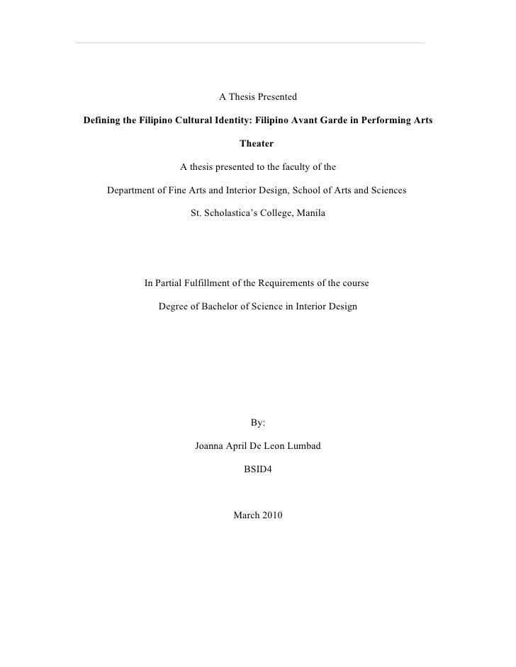 Final thesis presented december 2009 march 2010