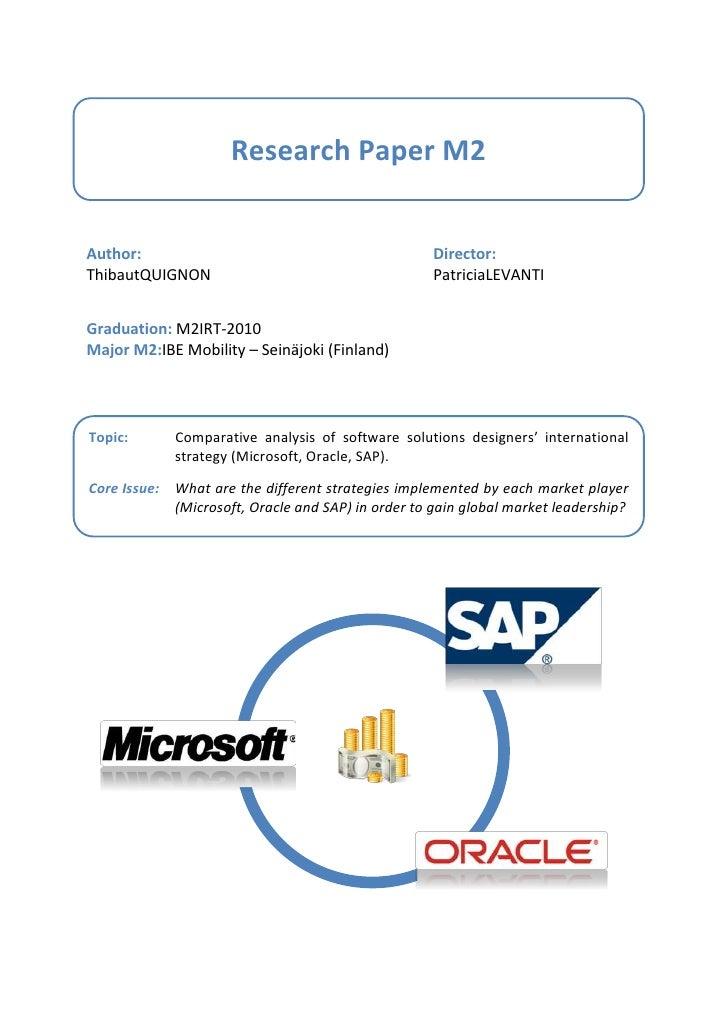 Research Paper M2   Author:                                             Director: Thibaut QUIGNON                         ...