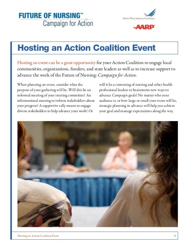Hosting an Action Coalition Event Hosting an event can be a great opportunity for your Action Coalition to engage local co...