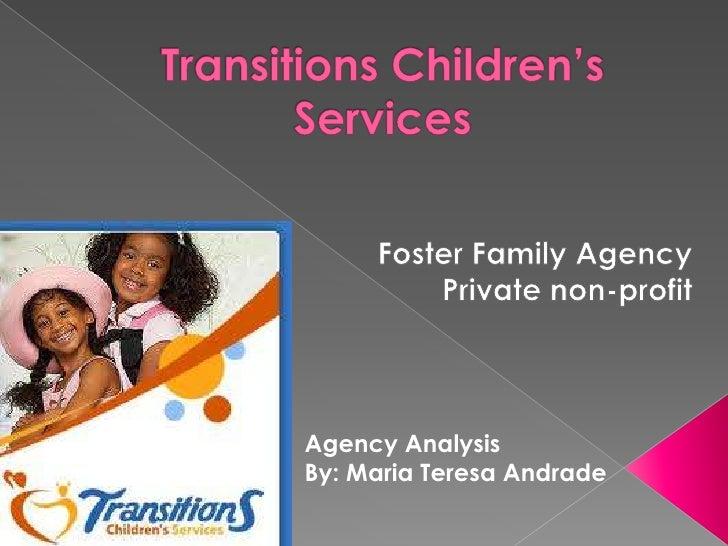 Agency AnalysisBy: Maria Teresa Andrade
