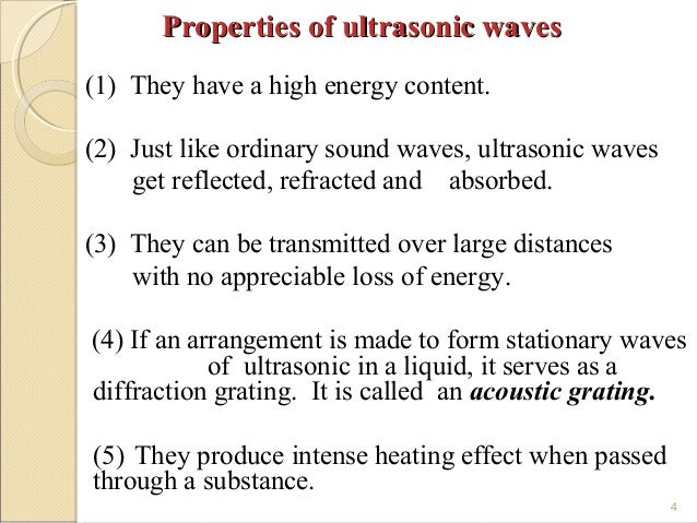 The waves of ultrasonics