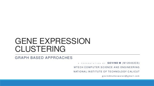 Graph based approaches to Gene Expression Clustering