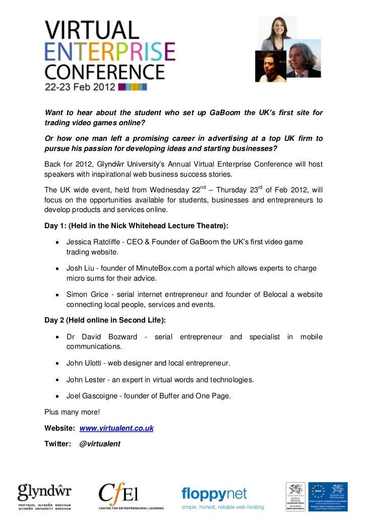 Virtual Enterprise Conference Pack 2012