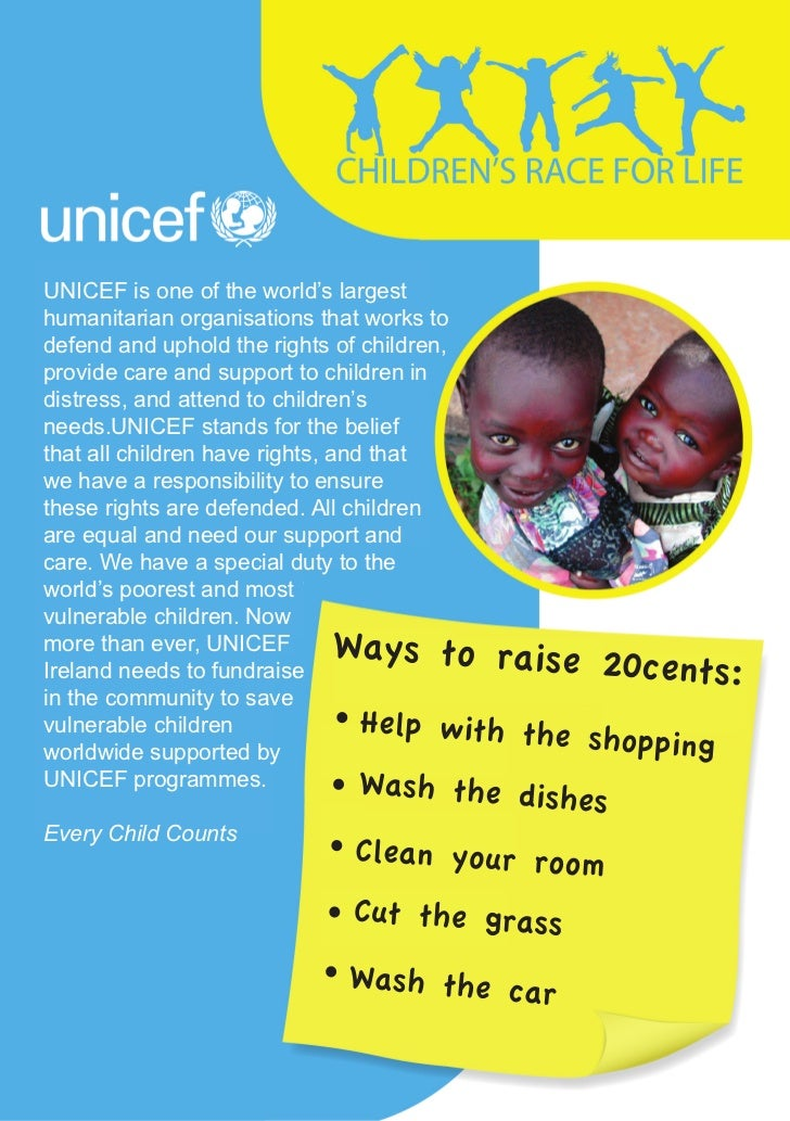 UNICEF is one of the world's largesthumanitarian organisations that works todefend and uphold the rights of children,provi...