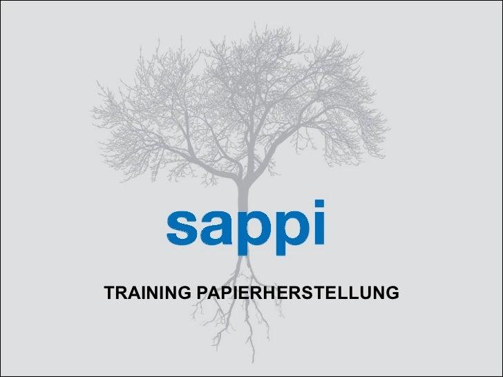 TRAINING PAPIERHERSTELLUNG
