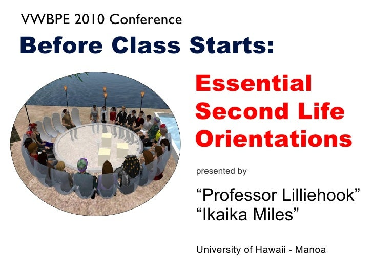 Before Class Starts: Essential Orientations