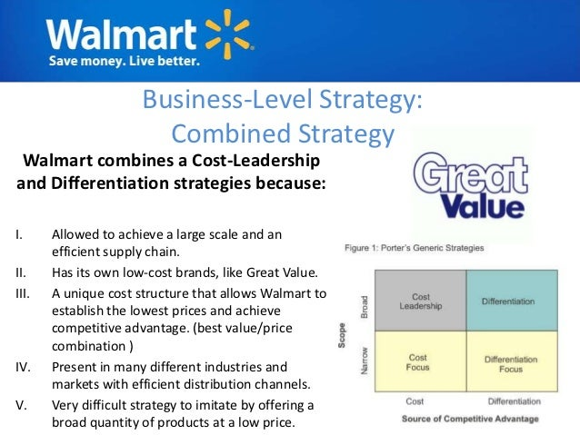 walmart s cost cutting strategy All strategy is local  the additional competition will push returns down to the firms' cost of capital  even though competitors over the years have copied many of wal-mart's cutting.
