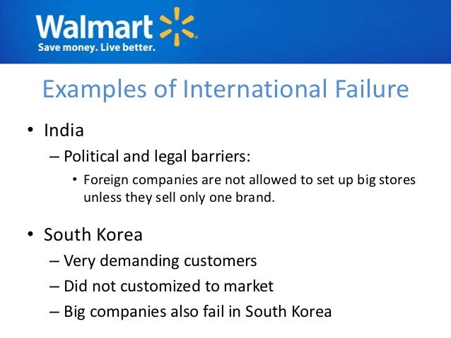 walmart barriers for entry into india Wal-mart itself has a big brand and the market leader of re  retail industries  with high barriers to entry are usually too expensive for new.