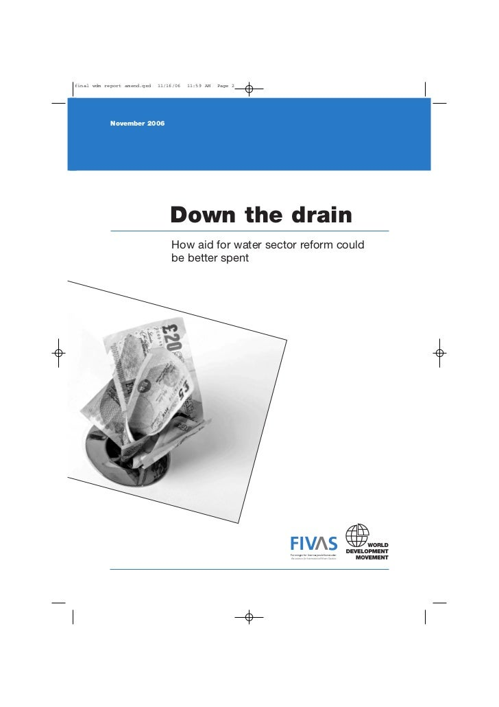 Down the drain - How aid for the water sector could be better spent