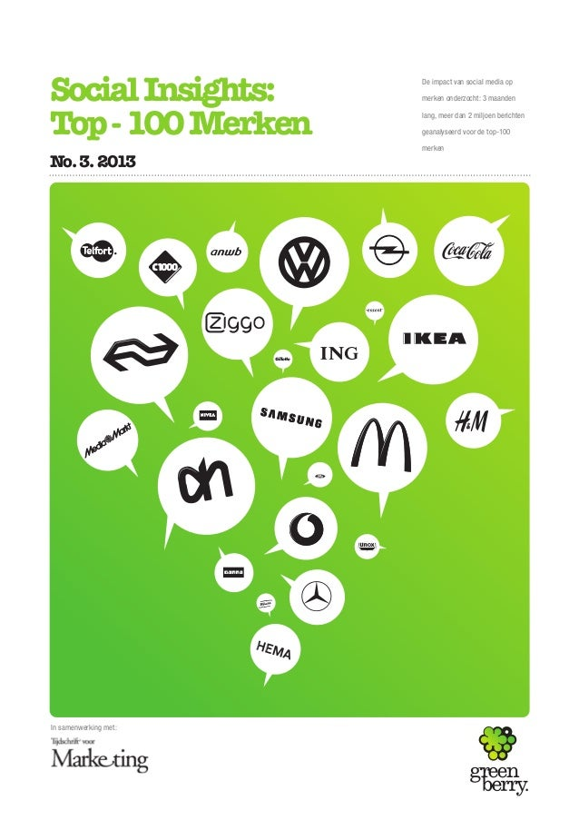 Social Insights: Top-100 merken 2013