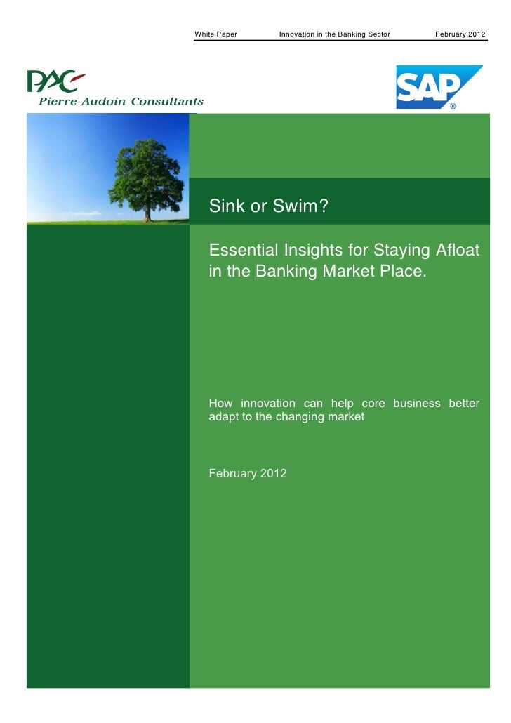 White Paper   Innovation in the Banking Sector                February 2012       1                Sink or Swim?          ...
