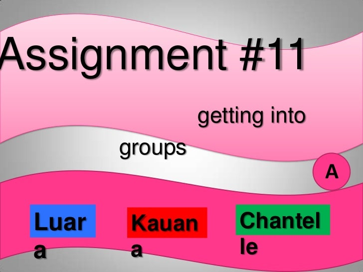 Assignment #11                 getting into        groups                                A Luar    Kauan       Chantel a  ...