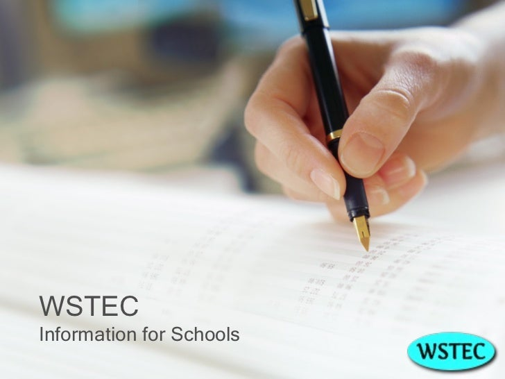 WSTEC Information for Schools