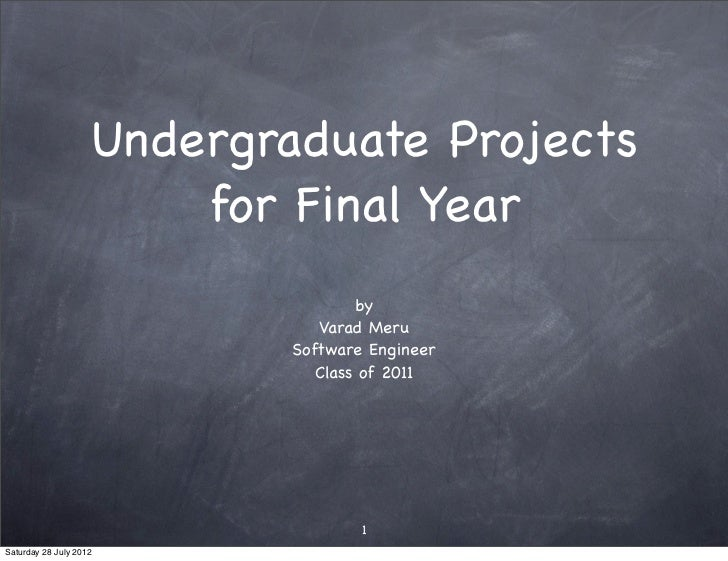 Undergraduate Projects                        for Final Year                                    by                        ...