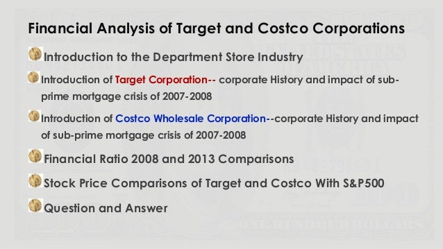 target corporation financial analysis and interpretation Updated key statistics for target corp - including tgt margins, p/e ratio, valuation, profitability, company description, and other stock analysis data  chief financial officer & executive.