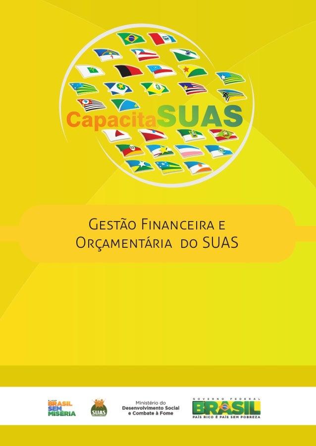 GESTÃO FINANCEIRA E  ORÇAMENTÁRIA DO SUAS